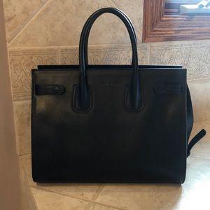 Borse In Pelle black handbag black leather new